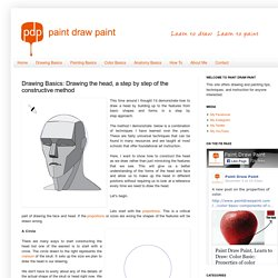 Paint Draw Paint, Learn to Draw: Drawing Basics: Drawing the head, a step by step of the constructive method