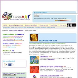 Drawing Lessons and Crafts for Kids and Children K-12: KinderArt : Learn How to Draw