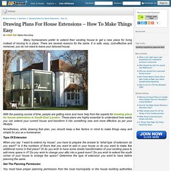 Drawing Plans For House Extensions – How To Make Things Easy