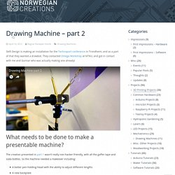 Drawing Machine – part 2