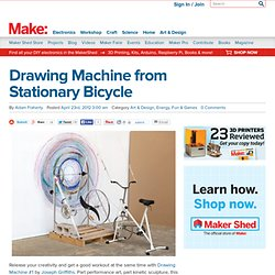 MAKE | Drawing Machine from Stationary Bicycle