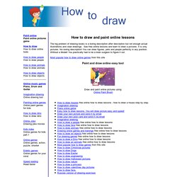 Drawing and painting online games. Learn to draw pictures.