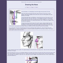 Drawing the nose - drawing lesson. portrait tutorial