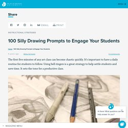 100 Silly Drawing Prompts to Engage Your Students