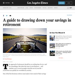 A guide to drawing down your savings in retirement