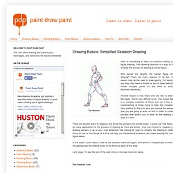 Paint Draw Paint, Learn to Draw: Drawing Basics: Simplified Skeleton Drawing