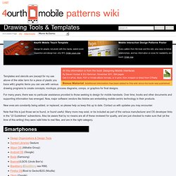 Drawing Tools & Templates - 4ourth Mobile Design Pattern Library