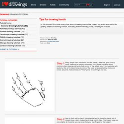 drawing Drawing Tutorial - How to draw - Tips for drawing hands