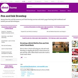 pen and ink drawing - tutorials and galleries