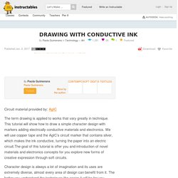 DRAWING WITH CONDUCTIVE INK