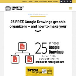 15 FREE Google Drawings graphic organizers — and how to make your own