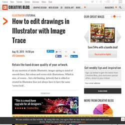 How to edit drawings in Illustrator with Image Trace