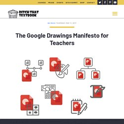 The Google Drawings Manifesto for Teachers - Ditch That Textbook