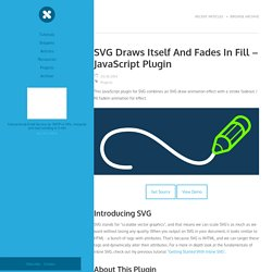 SVG Draws Itself And Fades In Fill – JavaScript Plugin