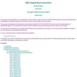 DRC: Digital Room Correction