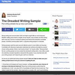 The Dreaded Writing Sample