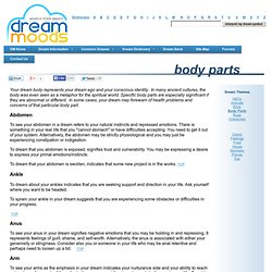 Dream Moods Dream Themes: Body Parts