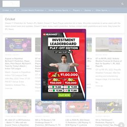 Fantasy Cricket Tips Online India