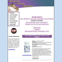 Advanced Dream Nutrition: Dreamamins With Galantamine