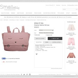 Emile et Ida Dreamer Satchel Old rose - Kids fashion - Smallable