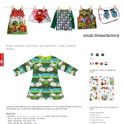 small dreamfactory: Free sewing tutorial and pattern long sleeve dress