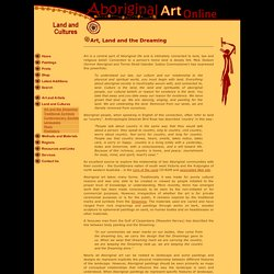 Art, Land and the Dreaming - Aboriginal Art Online