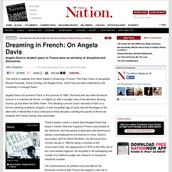 Dreaming in French: On Angela Davis