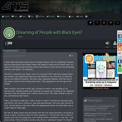 Dreaming of People with Black Eyes?