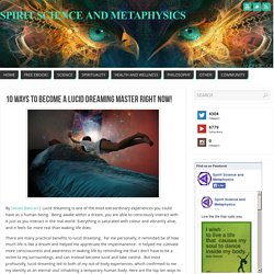 Top Ten Tips For Lucid Dreaming