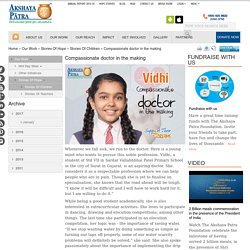 Vidhi - Dreams to Become a Doctor