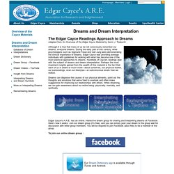 Dreams and Dream Interpretation : Edgar Cayce A.R.E.