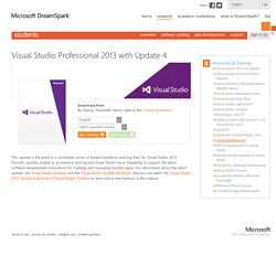 Product Visual Studio Professional 2013 with Update 4