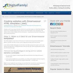 Creating websites with Dreamweaver HTML templates (.dwt)