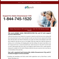 Dreamweaver CS5 1-844-745-1520 Technical Support/Help Number