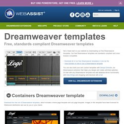 Dreamweaver business resources pearltrees for Templates for dreamweaver cs6