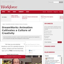 DreamWorks Animation Cultivates a Culture of Creativity