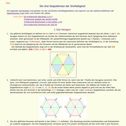 Bedeutung d. Zahl 13: Dreifaltigkeit, ein Gott in drei Personen im Doppelkreis des Hexagramms