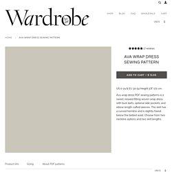 Ava Wrap Dress Sewing Pattern Wardrobe By Me PDF sewing pattern