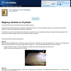 dressdiaries: Regency chemise in 14 photos