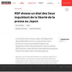RSF dresse un état des lieux inquiétant de la liberté de la presse au Japon