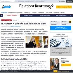 HCG dresse le palmarès 2015 de la relation client