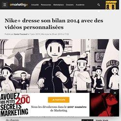 Nike+ dresse son bilan 2014 avec des vidéos personnalisées