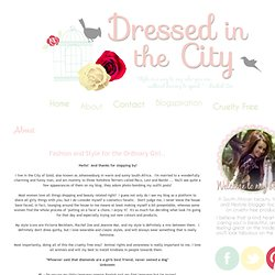 Dressed in the city: About