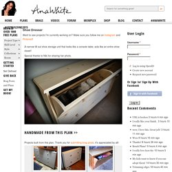 Build a Shoe Dresser