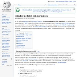 Dreyfus model of skill acquisition - Wikipedia