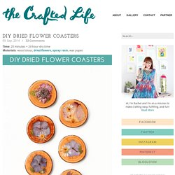 DIY Dried Flower Coasters
