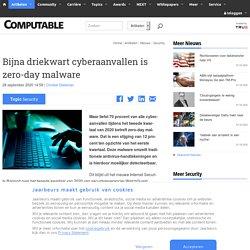 Bijna driekwart cyberaanvallen is zero-day malware