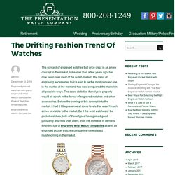 The Drifting Fashion Trend Of Watches