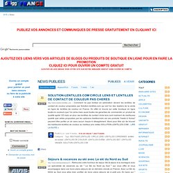 NEWS PUBLIEES | DRIGG-FRANCE.COM