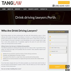 Need help to find the best drink driving lawyers?